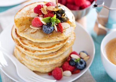 Fluffy White Pancakes