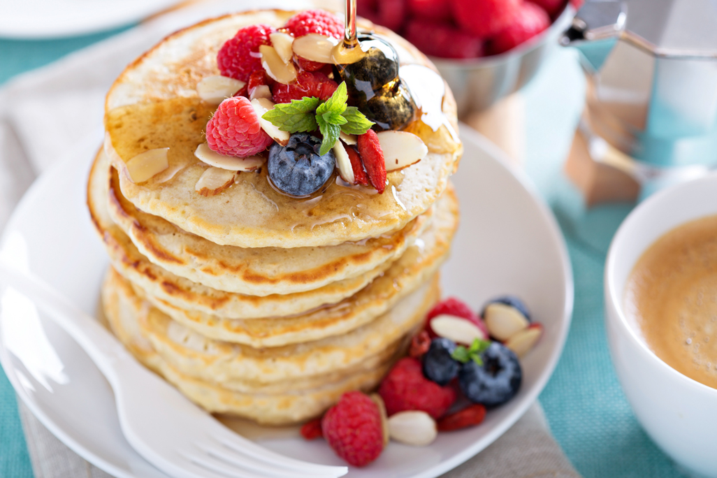 Fluffy White Pancakes