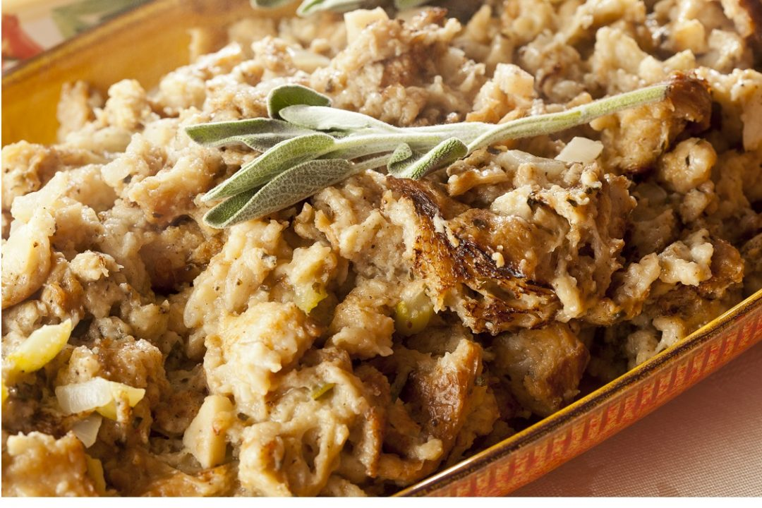 Apple, Cranberry, and Sausage Stuffing